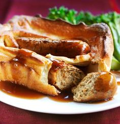 Our Quorn Toad in the Hole recipe features fluffy Toad in the Hole batter and tasty Quorn Sausages, which are the secret to making it a whole lot healthier. Quorn Recipes, Uk Recipes, Sausage Recipes, Veggie Recipes, Vegetarian Recipes, Cooking Recipes, Toad In The Hole, Evening Meals, Recipes