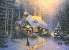 Thomas Kinkade is one of my favorites.....