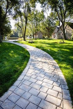 In this article, we've compiled a list of 9 gorgeous walkway designs that will elevate your home's exterior! Outdoor Walkway, Paver Walkway, Outdoor Flooring, Walkways, Driveways, Rustic Outdoor Spaces, Cobblestone Walkway, Stone Pavement, Landscape Design