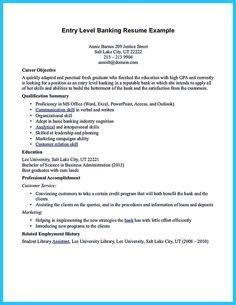 Sample Bank Teller Resume No Experience - http://www.resumecareer ...