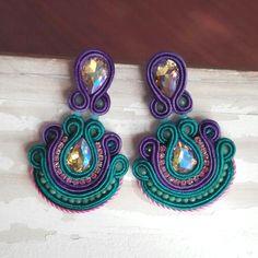Colores <3  #soutache #soutachechile #chile #instachile #boho #vintage #jewelry #handmade #etsy #santiagodechile #hechoamano #hechoenchile #modachile