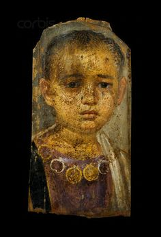 *EGYPT ~ century A. --- A Fayum portrait of a little girl from Hawara, Egypt. The mummy of the little girl was found with the mummy of Demos, who may have been the child's mother. --- Image by © Sandro Vannini/Corbis Ancient Rome, Ancient History, Art History, Rome Antique, Art Antique, Egyptian Mummies, Egyptian Art, Art Romain, Roman Art