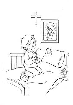 Prayers For Children, Bible Study For Kids, Bible Coloring Pages, Catholic Kids, Faith Prayer, Bible Art, Religious Art, Art Lessons, Paper Folding