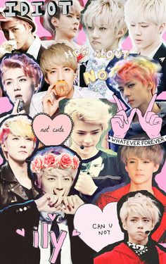 Sehun collage--this reminds me of the collages I used to put on my locker/binder when I was a freshman during mama era lol