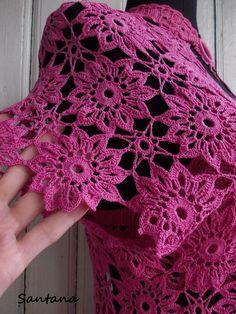 View album on Yandex. Granny Square Crochet Pattern, Crochet Flower Patterns, Crochet Diagram, Crochet Squares, Crochet Motif, Crochet Flowers, Crochet Stitches, Diy Crochet Sweater, Crochet Jacket