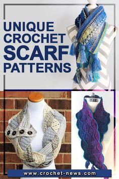 Crochet Ruffle Scarf, Hairpin Lace Crochet, Crochet Beret, Crochet Collar, Knit Or Crochet, Crochet Scarves, Crochet Clothes, Basic Crochet Stitches, Crochet Patterns