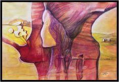 Aquarell - Der Blick zur Seite 2017 Painting, Art, Watercolor Painting, Glow Paint, Vibrant Colors, Abstract Art, Idea Paint, Art Production, Art Background