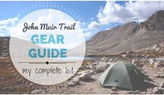 A complete gear list from 22 days backpacking on the John Muir Trail. #backpacking #travel #tour http://bearfoottheory.com/
