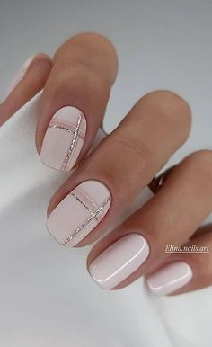 Soft Pink Nails, Mauve Nails, Light Pink Nails, Neutral Nails, Pink Nail Art, Pink Summer Nails, Nail Art With Glitter, Light Colored Nails, Chic Nails