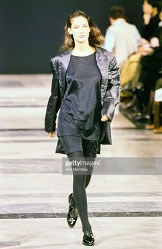 Model walks the Helmut Lang Fall 1989 RTW collection. (Photo by Guy Marineau/Condé Nast via Getty Images) Marpessa Hennick
