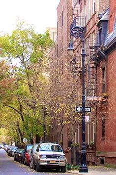Barrow St, West Village. The 9 Most Beautiful Streets in New York City via @PureWow