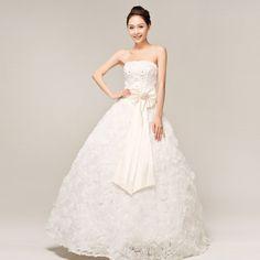 Dernière robe de mariée de fleur rose et de bustier rétro de princesse