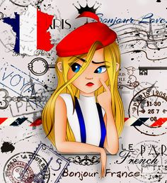 my country OCs, the French Girl