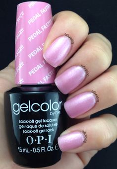 Opi Gel Color Pedal Faster Suzi! With Crystals Nail Art