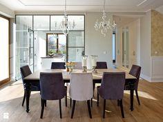 Dom w Warszawie - Średnia otwarta jadalnia w salonie, styl nowojorski - zdjęcie od BBHome