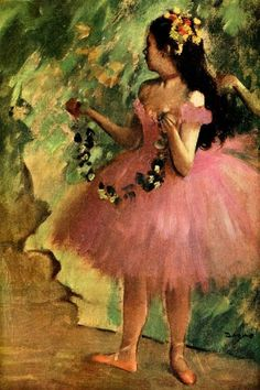 "Edgar Degas | Dancer in pink dress, 1880 (Xen ""loves"" this. Wants to order a copy for her room)"