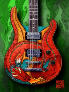 red dragon designer axe, guitar,cool guitar, stings,pickups,knobs,backrounds