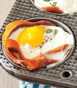 Fast and Easy Breakfast Recipe: Baked Prosciutto and Egg Cups