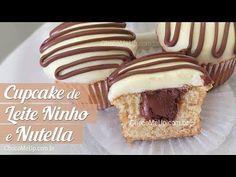 Cupcake de Leite Ninho e Nutella - Choco Me Up!