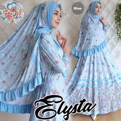 Gamis Elysta Syar'i Blue