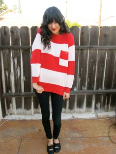 candy cane pullover