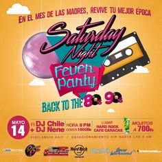 "Hard Rock Cafe Caracas presenta: ""Saturday Night Fever Party"" http://crestametalica.com/events/hard-rock-cafe-caracas-presenta-saturday-night-fever-party/ vía @crestametalica"