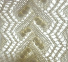 knitted lace pattern close up