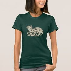 Green Eyed Celtic Cat T-Shirt - click to get yours right now!