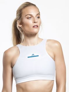 High Intensity Medium Support Sport Bra in White by Adidas By Stella Mccartney from Carbon38