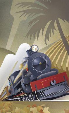 Art Deco Napier New Zealand - Kunstunterricht Poster Art, Retro Poster, Kunst Poster, Art Deco Posters, Poster Vintage, Film Poster, Retro Kunst, Retro Art, Vintage Art