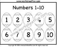 Easter Worksheets – Number Tracing – 1-10 – One Worksheet ...