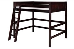 Camaflexi Full High Loft Bed - Panel Headboard - Cappuccino Finish - C622F_CP
