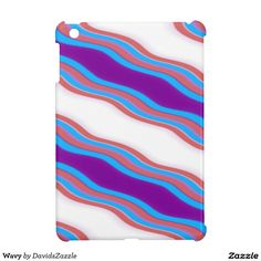 Wavy iPad Case  Available on many more products! Type in the name of this design in the search bar on my Zazzle Products page!  #wavy #wave #abstract #abstraction #art #phone #case #laptop #sleeve #accessory #computer #lifestyle #style #life #accessorize #accent #purple #line #red #blue #stripes #ripple #buy #sale #zazzle #forsale #iphone #apple #mac #electronic #gear #ipad