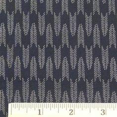 Japanese Cotton - Midnight Blue Arrowhead, 1/2 yard