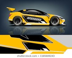 Similar Images, Stock Photos & Vectors of Car decal wrap design vector. Graphic abstract stripe racing background kit designs for vehicle, race car, rally, adventure and livery - 1168303909 Racing Car Design, Eco Friendly Cars, Lifted Ford Trucks, Mustang Cars, Car Painting, Car Ford, Car Wrap, Vinyl, Car Decals
