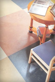Porters Paints Concrete Wash for floors in bathrooms? Painted Concrete Floors, Painting Concrete, Concrete Tiles, Diy Concrete, Patio Flooring, Parquet Flooring, Concrete Pathway, Activity Room, Stenciled Floor