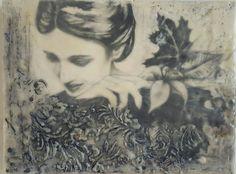 Encaustic and photocopy transfer of original graphite drawing.