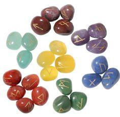 7 Chakra Rune Set Rune Divination, Runes, Chakra, Fruit, Chakras