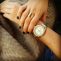 Gold Fossil watch <3