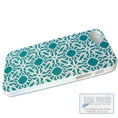 Eco iPhone 5-5S Case - exotic turquoise blue 'Katmandu' print. Use 'BEAU30' to save 30% off, thru 9/30/14