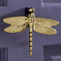 Heavy Metal Polished Brass Dragonfly Door Knocker / Door Beater |  Dragonflies, Doors And Knock Knock