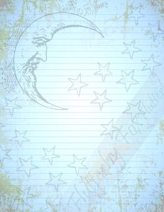 Good Night Moon, Writing Paper, Printable Paper, Book Of Shadows, Night Skies, Your Image, Stationery, Printables, Lettering