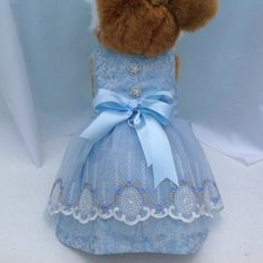 Light Blue and Ivory Cinderella Embroidered Lace by princessamee