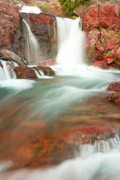 Redrock Falls in Glacier National Park, Montana | Andy Cook, RMRP