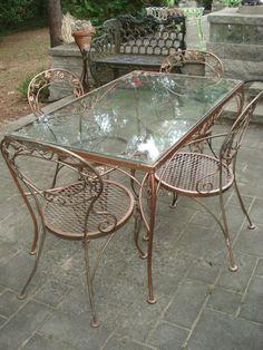 fabulous chantily rose woodard patio vintage midcent vintage patio