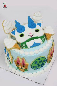 Komasan & Komajiro from Yo-Kai Watch Birthday Cake Made some ice-cream cones for Komasan