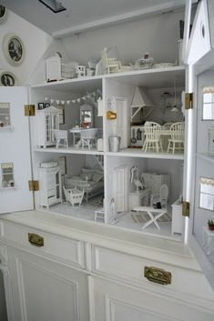 This white wonderland. | 41 Dollhouses That Will Make Wish You Were A Tiny Doll
