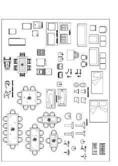 Printable furniture templates 14 inch scale free graph paper for imagem relacionada malvernweather Choice Image