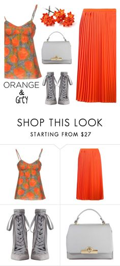 """Orange and grey"" by juliehalloran ❤ liked on Polyvore featuring Marni, MM6 Maison Margiela and Zimmermann"