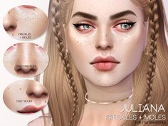 Sims 4 Updates: TSR - Skins / Skin details : Juliana Freckles + Moles N10 by Pralinesims, Custom Content Download!